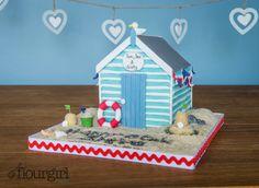 British Seaside Beach Hut Cake.