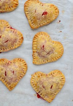 Easy Heart Shaped Strawberry Hand Pies | Well Plated