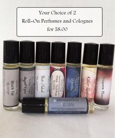2 for 8.00 Roll-on Perfumes & Colognes  by BlueLotusArtisanSoap