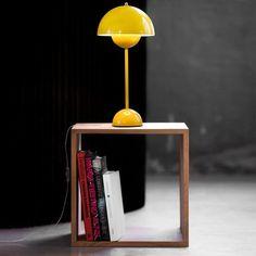 Flowerpot lamp by Verner Panton Retro Lamp, Kartell, Lighting Store, Mid Century House, Minimalist Decor, Lamp Design, Light Table, Contemporary Interior, Desks