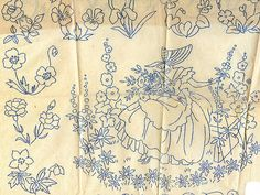 Crinoline lady and flowers