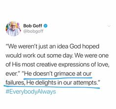 God delights in your attempts. Bible Verses Quotes, Jesus Quotes, Faith Quotes, Scriptures, Cool Words, Wise Words, Encouragement, Christen, Quotes About God