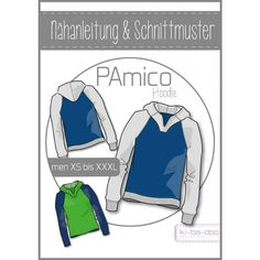 Ebook Raglan-Hoodie PAmico - pattern and instructions as PDF file Sewing Men, Sewing Clothes, Men Clothes, Sewing Tips, Sewing Ideas, Raglan Pullover, Hobbies For Men, Men's Wardrobe, Easy Sewing Projects