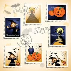 Halloween stamps © Luisa Venturoli