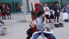 #Avatar #ATLOK #Korra #Deadpool #Dancing #cosplay