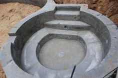 poured concrete hot tub. / bontool.com