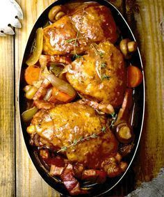 Slow Cooker Coq Au Vin - The Wilderness Wife Blog - Easy, tasty and economical #slowcooker #recipe