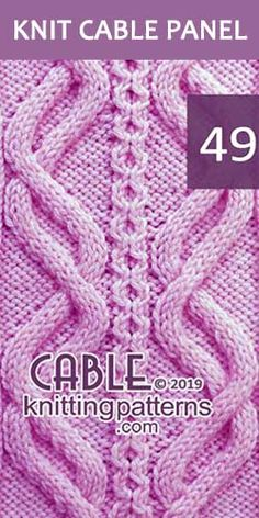 Knitted Cable Panel Pattern 49, its FREE. Advanced knitter and up.