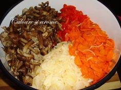 Salata de toamna (opintici, gogosari, ceapa, morcovi) – Culoare si Arome Grains, Rice, Food, Salads, Meals, Yemek, Laughter, Jim Rice, Eten