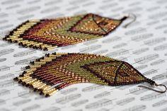 Fringe Earrings, Seed Bead Earrings, Beaded Earrings, Native American Beaded…