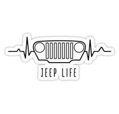 Jeep Wrangler Discover JEEP LIFE (white) Sticker by oldskooldesign Jeep 4x4, Cj Jeep, Jeep Gear, Jeep Stickers, Jeep Decals, Jeep Drawing, Jeep Tattoo, Jeep Wrangler Accessories, Custom Jeep