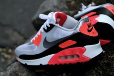 """Nike Air Max 90 """"Infrared"""" - These would be perfect for Spring-Summer"""
