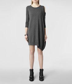 Femme Sago Dress (Charcoal) | ALLSAINTS.com