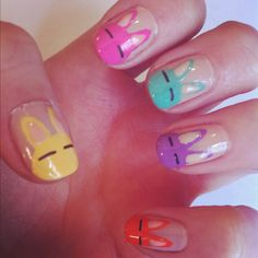 My Easter Bunny Nails    Karla  X