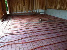 Radient floor heating
