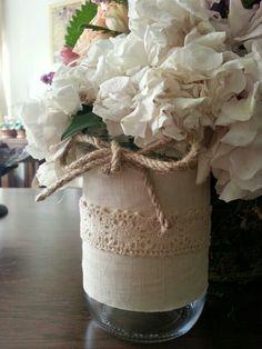 mason jar centerpiece, for our next fundraiser!