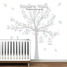 Enfants Wall Sticker Decal Stickers-arbre avec les par Modernwalls