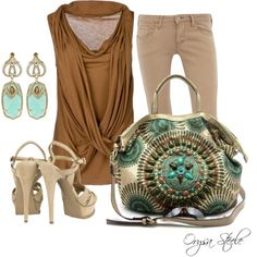 """Turquoise Tote"" by orysa on Polyvore"