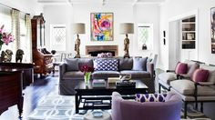 Not crazy about the purple, but loving the mix of modern and traditional.