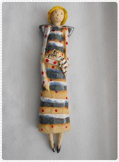 Anioł lalka, wiszący, dl. 24cm. www.artfabryka.net