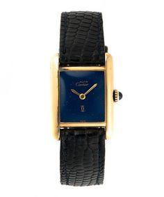Must+de+Cartier+Tank+leather+watch+by+Cartier+on+secretsales.com