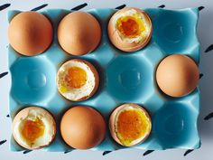 The Tyranny of the Jammy Egg _ga- steam them brings more consistency to the cooking temperatures. Cured Egg, Incredible Eggs, Steamed Eggs, Soft Boiled Eggs, Hard Boiled, Cooking Temperatures, Egg And I, Breakfast Items, Breakfast Recipes