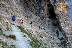 The km Crypt Lake hike in Waterton Lakes NP has been called the Indiana Jones adventure of the Canadian Rockies. The hike includes a tunnel and chains. Places To Travel, Places To See, Alberta Travel, Waterton Lakes National Park, Yellowstone Camping, Canadian Travel, Travel Tours, Travel Info, Day Hike