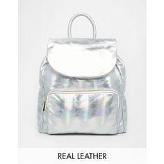 Urbancode Holographic Effect Leather Backpack