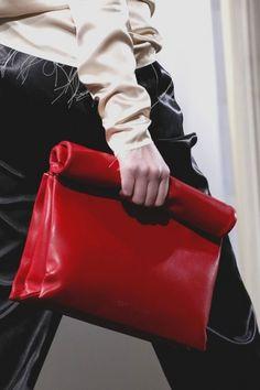 Celine pochette/sacchetto in pelle rossa P/E 2013