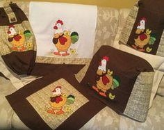 Kit cozinha galinhas 5 peças