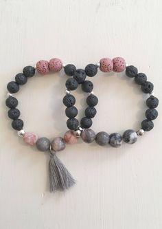 Gemstone and lava bead bracelet Lava Bracelet, Tassel Bracelet, Gemstone Bracelets, Jewelry Bracelets, Star Jewelry, Beaded Jewelry, Handmade Jewelry, Handmade Bracelets, Fine Jewelry