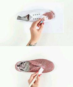 Bez Ayakkabıyı Simle Süsleme
