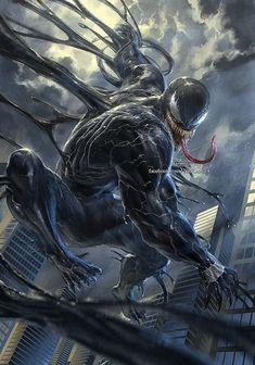 Venom Art By the_knott Venom Comics, Marvel Venom, Marvel Villains, Marvel Comics Art, Marvel Comic Universe, Comics Universe, Marvel Vs, Marvel Characters, Marvel Heroes