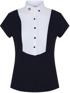 Cavalleria Toscana Pleated Bib Short Sleeve Shirt