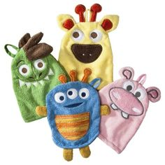 Make bath time fun with these wash mitts