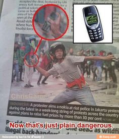 nokia, 3310, just, dangerous