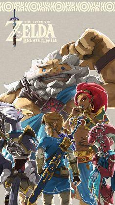Die Legende von Zelda: Atem des wilden Plakats - The Legend of Zelda - Game The Legend Of Zelda, Legend Of Zelda Breath, Zelda Breath Of Wild, Breath Of The Wild, Image Zelda, Ocarina Of Time, Pokemon, Hyrule Warriors, Link Zelda