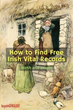 How to Find Free Irish Vital Records online. This post from Bespoke Genealogy looks at a great free resource often overlooked by family historians looking for their Irish roots. Free Genealogy Sites, Genealogy Forms, Genealogy Search, Family Genealogy, Lds Genealogy, Free Genealogy Records, Ancestry Records, Genealogy Chart, My Family History