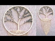 "DIY atrapasueños ""ARBOL DE LA VIDA"" - YouTube Macrame Wall Hanging Diy, Macrame Plant Hangers, God's Eye Craft, Diy Dream Catcher Tutorial, Dream Catcher Decor, Diy And Crafts, Arts And Crafts, Tree Of Life Jewelry, Thread Art"