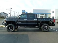 2015 Chevy Silverado 1500 Southern Comfort Black Widow Lifted Truck http://www.onlyliftedtrucks.com