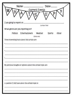 Freebie: Current events, Informational Text, Note Taking, and Speaking skills! Motivation Linky!