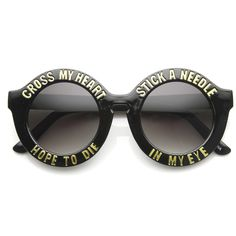 b048b3fbe2 Cross My Heart Hope To Die Womens Fashion Hipster Swag Sunglasses 9128