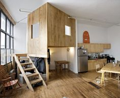"A brooklyn loft ""treehouse"" apartment"