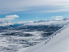 Picture of hikers climbing backcountry mountains in AlaskaAlaskan Air Photograph by Saku Okamoto, National Geographic Your Shot