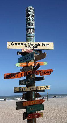 Which Way - Cocoa beach Florida USA