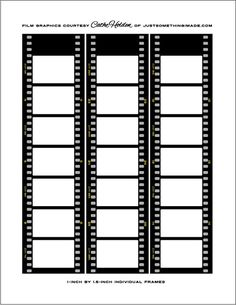 Free film strip templates for your photo collages and for Film strip picture template