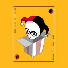 Check out this awesome 'Harley+Quinn+Christmas+Playing+Card' design on @TeePublic!