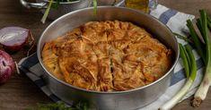 Δείτε τη συνταγή! Savory Pastry, Food Categories, Weekly Menu, Spanakopita, Greek Recipes, Curry, Vegetarian, Vegan, Chicken