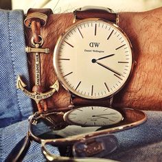Anchor your time to what you love ⚓️⌚️  @DanielWellingtonWatches  @Brooks Brothers (at Kiel James Patrick Factory)