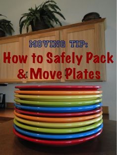 Moving Tip: How to Safely Pack and Move Plates! ~ from TheFrugalGirls.com #moving #packing